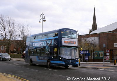 First 35128 (SM65GFY), Bridge Street, Rotherham, 29th December 2018
