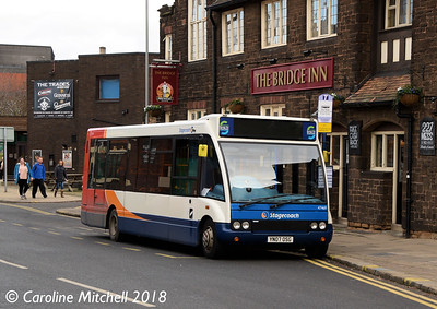 Stagecoach 47469 (YN07OSG), Greasbrough Road, Rotherham, 29th December 2018
