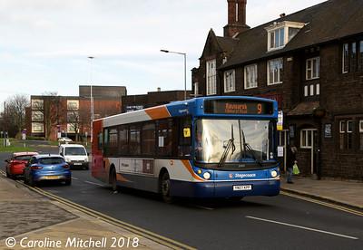 Stagecoach 22423 (YN07KPP), Greasbrough Road, Rotherham, 29th December 2018