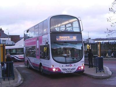 First 37490 (YN08NMV), Hillsborough, Sheffield, 22nd December 2008