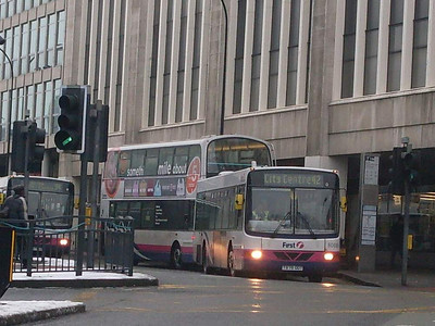 First 60696 (T878ODT), Arundel Gate, Sheffield, 24th December 2009
