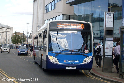 Stagecoach 22558 (YN57MYB), High Street, Sheffield, 9th August 2011