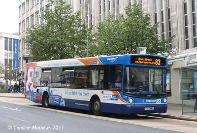 Stagecoach 22438 (YN07KRU), Waingate, Sheffield, 10th August 2011