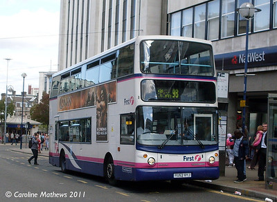 First 31133 (YU52VYJ), High Street, Sheffield, 9th August 2011