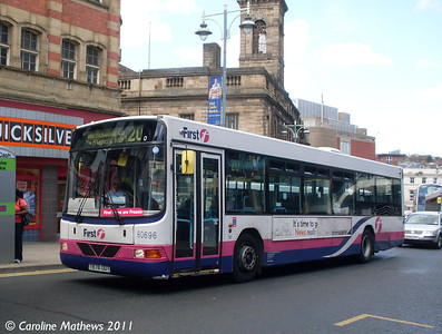First 60696 (T878ODT), Haymarket, Sheffield, 9th August 2011