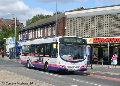 First 60718 (MV02VBL), Main Road, Darnall, Sheffield, 9th August 2011
