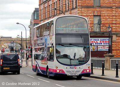 First 37484 (YN08NME), Lady's Bridge, Sheffield, 11th May 2012