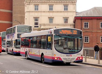 First 69020 (SF55UAN), Lady's Bridge, Sheffield, 11th May 2012