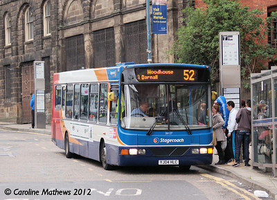 Stagecoach 26127 (YJ04HLC), Waingate, Sheffield, 11th May 2012