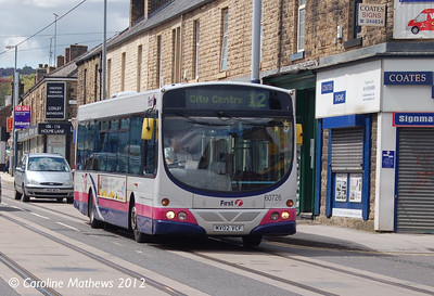 First 60726 (MV02VCF), Sheffield, 12th May 2012