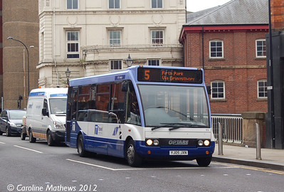 Sheffield Community Transport 11 (YJ05JXN), Lady's Bridge, Sheffield, 11th May 2012