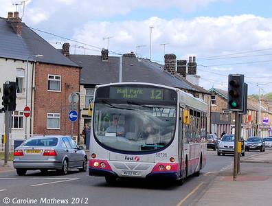 First 60728 (MV02VCJ), Malin Bridge, Sheffield, 12th May 2012