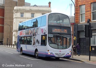 First 37525 (YN58ETT), Lady's Bridge, Sheffield, 11th May 2012
