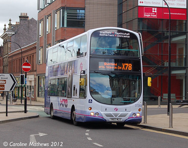 First 37264 (YN07MLO), The Wicker, Sheffield, 11th May 2012