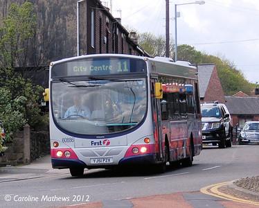 First 60886 (YJ51PZX), Malin Bridge, Sheffield, 12th May 2012