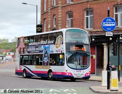 First 37477 (YN08NLT), Nursery Street, Sheffield, 11th May 2012