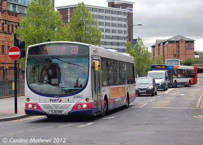 First 61662 (SJ51DKK), Sheffield, 11th May 2012