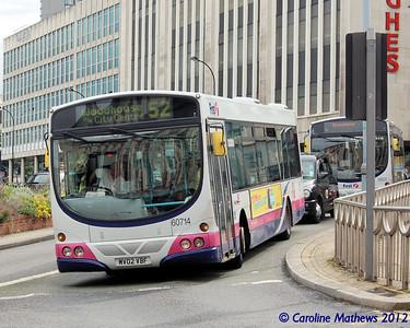 First 60714 (MV02VBF), Sheffield, 2nd August 2012