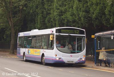 First 60721 (MV02VBO), Western Bank, Sheffield, 1st August 2012