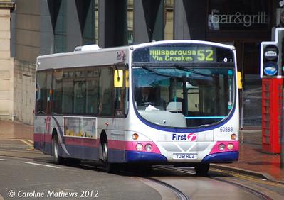 First 60888 (YJ51RDZ), Sheffield, 11th May 2012