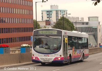 First 60712 (MV02VAO), Western Bank, Sheffield, 1st August 2012