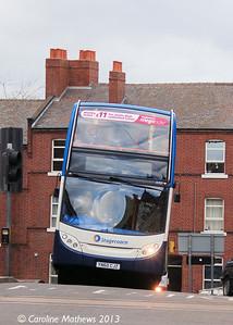 Stagecoach 15707 (YJ60CJZ), Townhead Street, Sheffield, 1st February 2013