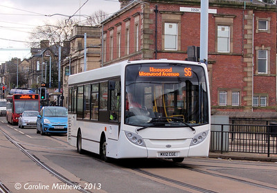 Sheffield Community Transport MX12CGE, Hillsborough, 1st February 2013