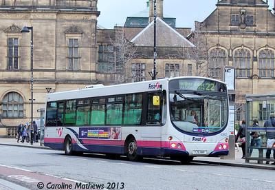 FIrst 60892 (YJ51RHF), Pinstone Street, Sheffield, 1st February 2013