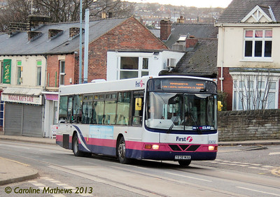 First 60656 (T838MAK), Middlewood Road, Hillsborough, 1st February 2013