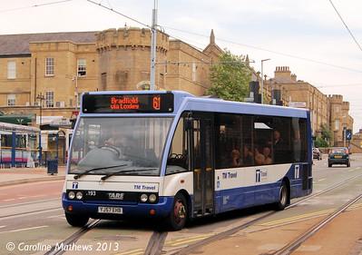 TM Travel 1193 (YJ57EHB), Hillsborough, 8th AUgust 2013