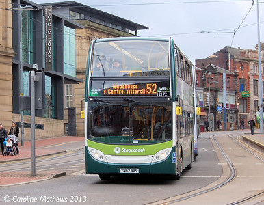 Stagecoach 12172 (YN62BXS), West Street, Sheffield, 1st February 2013