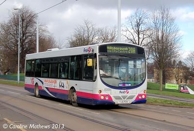 First 60886 (YJ51PZX), Hillsborough, 1st February 2013