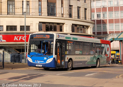 Stagecoach 22617 (YN08JHA), Sheffield, 1st February 2013
