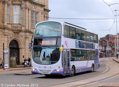 First 37035 (YJ06XLA), West Street, Sheffield, 1st February 2013