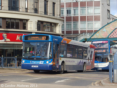 Stagecoach 22431 (YN07KRD), Sheffield, 1st February 2013
