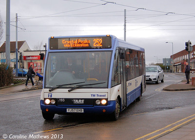 TM Travel 1193 (YJ57EHB), Gleadless Townend, 2nd January 2013