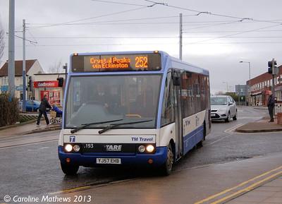 TM Travel 1193 (YJ57EHB), Gleadless Townend, 2nd January 2013