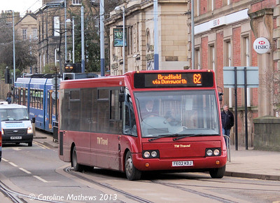 TM Travel 444 (FE02KDJ), Hillsborough, 1st February 2013