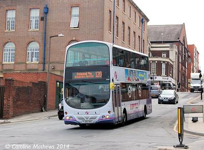 First 37029 (YJ06  XKU), Rockingham Street, Sheffield, 31st July 2014