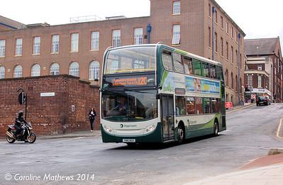 Stagecoach 12102 (YJ61BGO), Rockingham Street, Sheffield, 31st July 2014