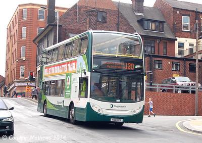 Stagecoach 12095 (YN61BFX), Rockingham Street, Sheffield, 31st July 2014