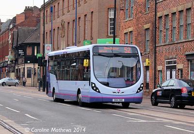 FIrst 63132 (SN14DWE), West Street, Sheffield, 31st July 2014