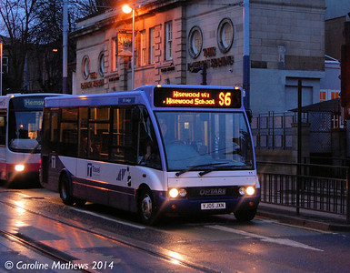 Sheffield Community Transport 11 (YJ05JXN), Hillsborough, Sheffield, 4th January 2014