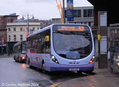 First 63026 (SK63KHC), Sheffield, 4th January 2014