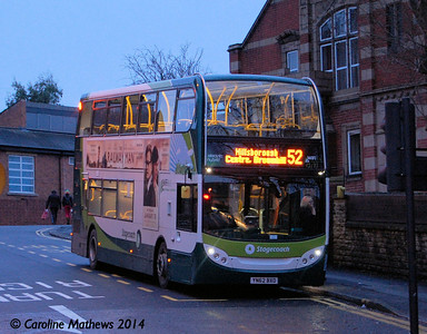 Stagecoach 12171 (YN62BXO), Hillsborough, Sheffield, 4th January 2014