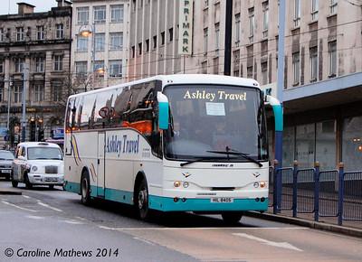 Ashley Travel HIL8405, High Street, Sheffield, 4th January 2014