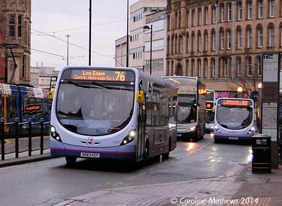 FIrst 63022 (SN63KGY), Church Street, Sheffield, 4th January 2014