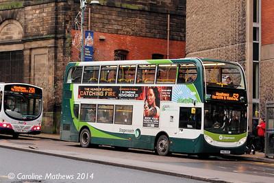 Stagecoach 12168 (YN62BVR), Waingate, Sheffield, 4th January 2014