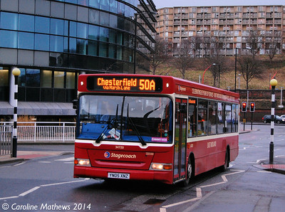 Stagecoach 34720 (YN05XNZ), Harmer Lane, Sheffield, 4th January 2014