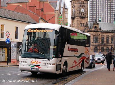 Andersons M444BUS, Leopold Street, Sheffield, 4th January 2014